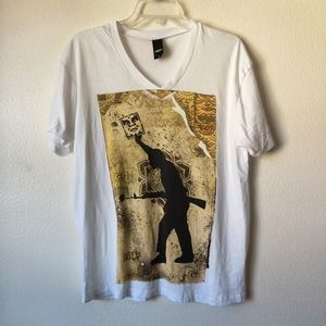 Obey v neck graphic ter